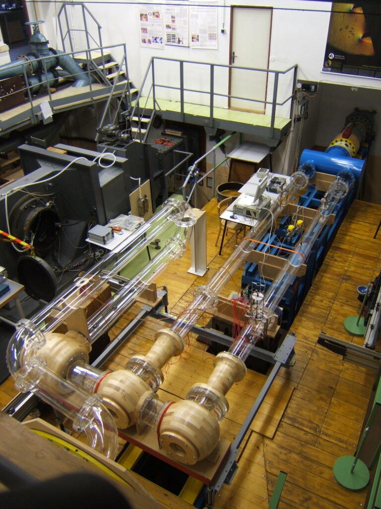 Model jedné ze složitých sestav ventilů.